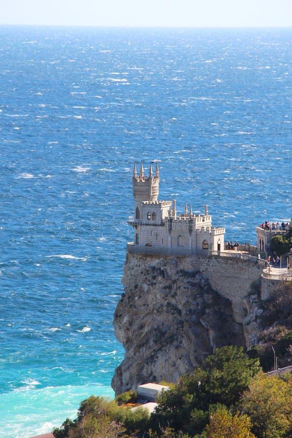 Το Castle κατάπιε τη φωλιά σε Yalta στην Κριμαία στοκ φωτογραφίες