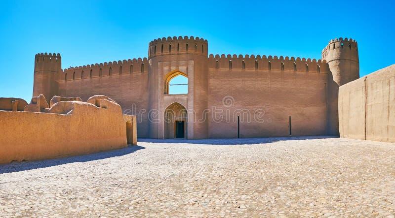 Το Castle του arg-ε Rayen, Ιράν στοκ φωτογραφίες με δικαίωμα ελεύθερης χρήσης