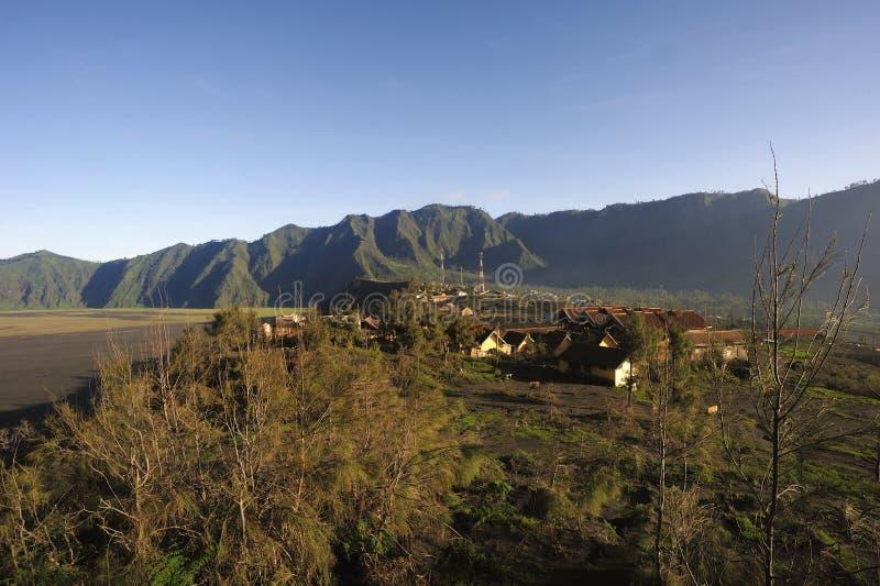 Το Cemoro Lawang, τοποθετεί Bromo, ανατολική Ιάβα στοκ φωτογραφία