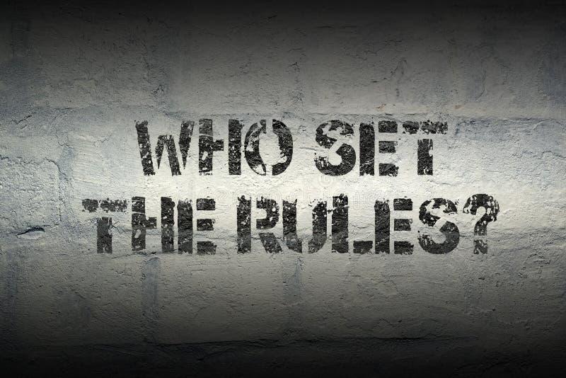 Το cWho έθεσε τους κανόνες στοκ φωτογραφίες με δικαίωμα ελεύθερης χρήσης