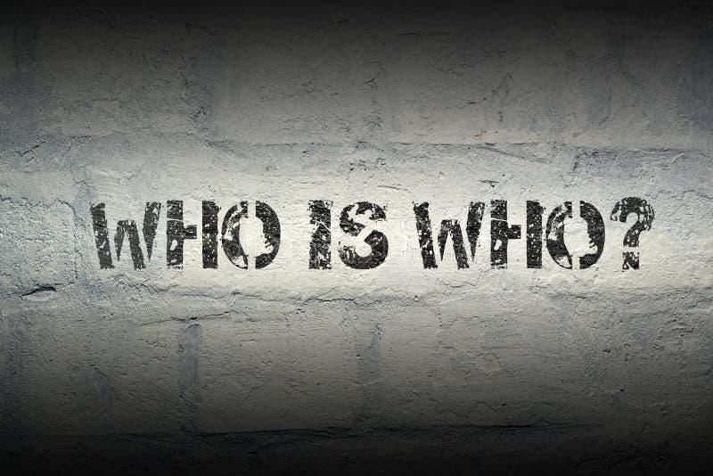 Το cWho είναι ποιοι στοκ φωτογραφίες με δικαίωμα ελεύθερης χρήσης
