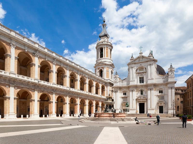 το della Santa Casa βασιλικών στην Ιταλία Marche στοκ φωτογραφίες με δικαίωμα ελεύθερης χρήσης