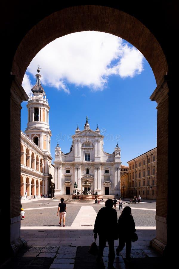 το della Santa Casa βασιλικών στην Ιταλία Marche στοκ φωτογραφία με δικαίωμα ελεύθερης χρήσης