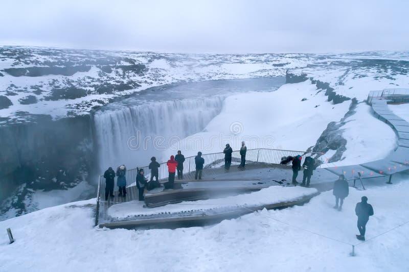 Το Dettifoss είναι ένας καταρράκτης στο εθνικό πάρκο Vatnajokull σε Northea στοκ φωτογραφία με δικαίωμα ελεύθερης χρήσης
