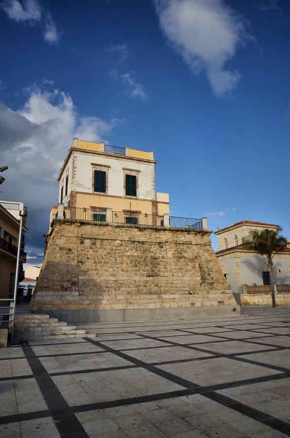 Το Di Ραγκούσα μαρινών είναι ένα πολύ δημοφιλές παραθαλάσσιο θέρετρο στη νοτιοανατολική Σικελία στοκ φωτογραφία με δικαίωμα ελεύθερης χρήσης