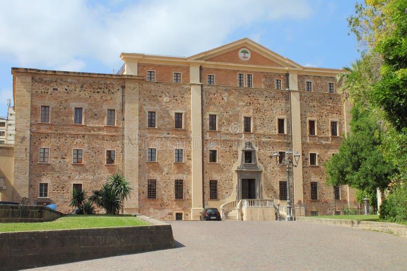 Το Diocesan μουσείο Oristano στη Σαρδηνία Ιταλία στοκ εικόνες