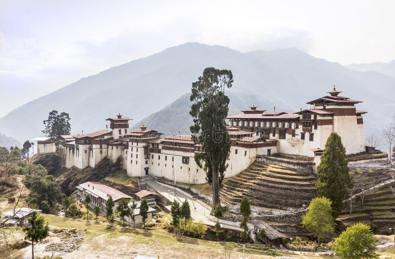 Το dzong Trongsa στοκ φωτογραφίες με δικαίωμα ελεύθερης χρήσης