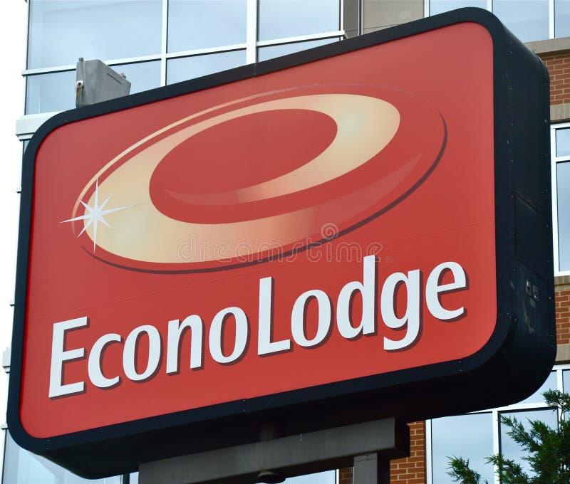 το econo κατοικεί το σημάδι στοκ φωτογραφίες