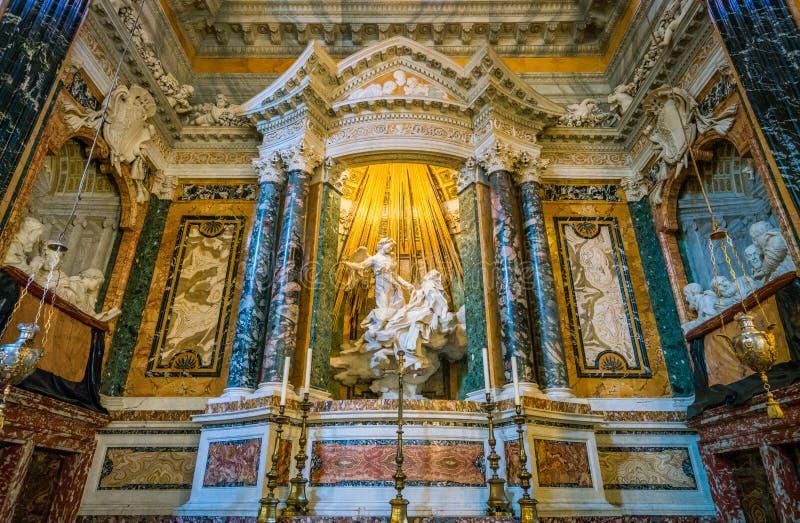 Το Ecstasy Αγίου Τερέζα στην εκκλησία του della Vittoria της Σάντα Μαρία στη Ρώμη, Ιταλία στοκ εικόνα με δικαίωμα ελεύθερης χρήσης