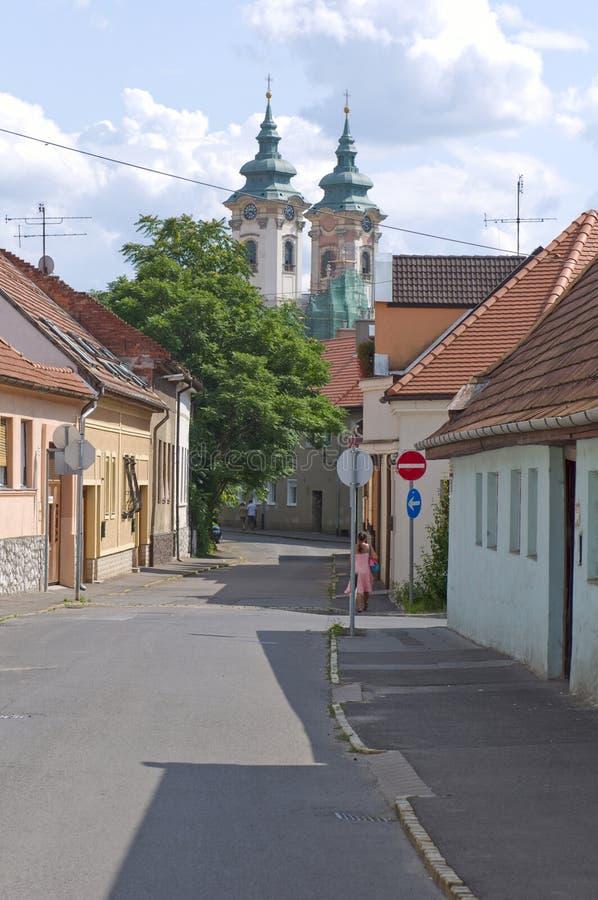 Το Eger είναι το δεύτερο - μεγαλύτερη πόλη στη βόρεια Ουγγαρία. στοκ εικόνες