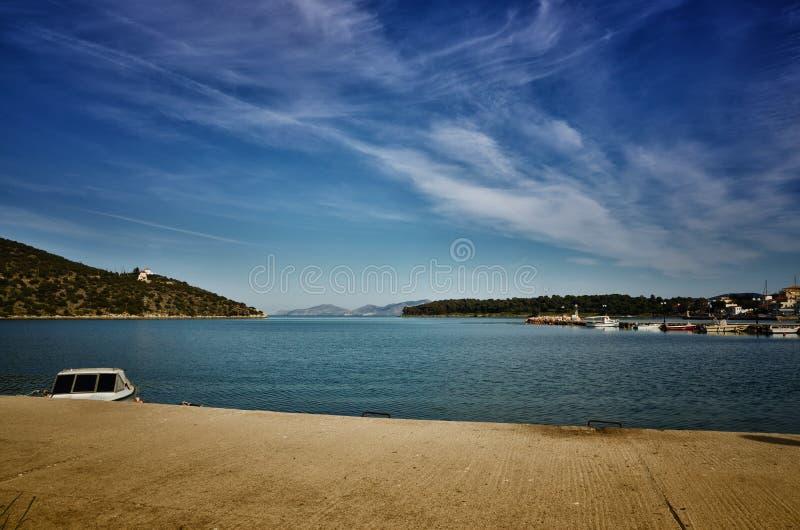 Το Ermioni στην Ελλάδα είναι μια μικρή πόλη παραλιών στις ανατολικές ακτές της Πελοποννήσου, στην περιοχή Argolis στοκ φωτογραφία με δικαίωμα ελεύθερης χρήσης