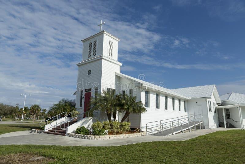 Το Everglades που η κοινοτική εκκλησία στην καρδιά της Φλώριδας Everglades είναι ένα heri στοκ εικόνες