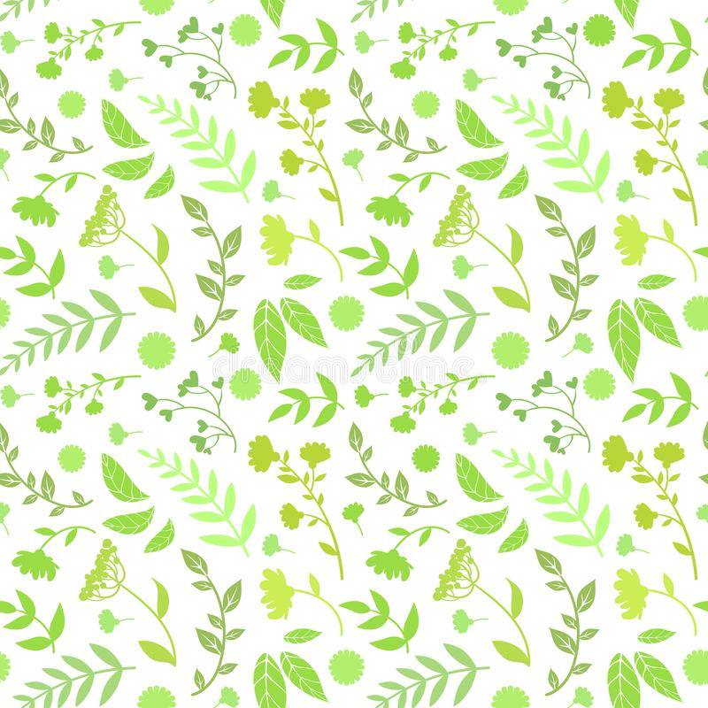 Το Floral άνευ ραφής σχέδιο της στρογγυλής μορφής με τα πράσινα φύλλα, στοιχείο σχεδίου μπορεί να χρησιμοποιηθεί για το ύφασμα, τ ελεύθερη απεικόνιση δικαιώματος