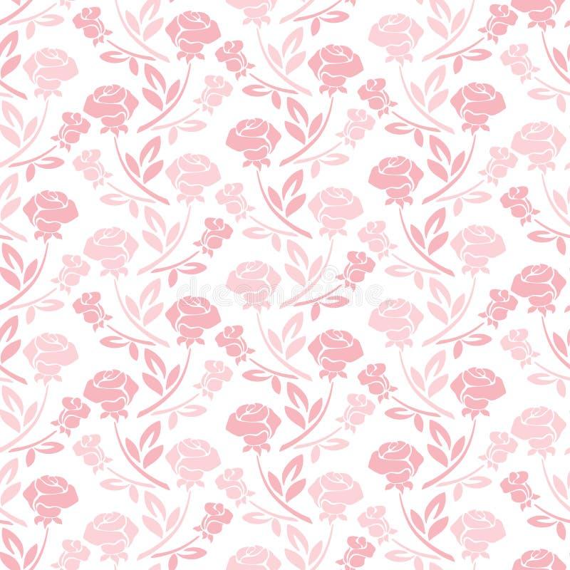 Το Floral άνευ ραφής σχέδιο με αυξήθηκε στους τόνους κρητιδογραφιών απεικόνιση αποθεμάτων