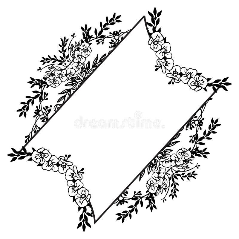 Το Floral υπόβαθρο με τα λουλούδια και τα φύλλα, σχεδιάζει μοναδικό των καρτών r απεικόνιση αποθεμάτων