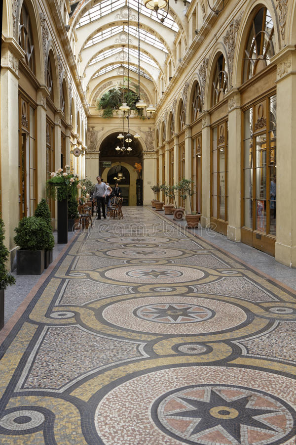 Το Galerie Vivienne στο Παρίσι στοκ φωτογραφία με δικαίωμα ελεύθερης χρήσης