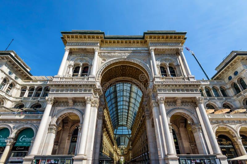 Το Galleria Vittorio Emanuele ΙΙ στο Μιλάνο, Ιταλία στοκ φωτογραφία με δικαίωμα ελεύθερης χρήσης