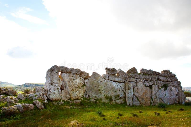 το gozo ggantija παραμένει ναός στοκ φωτογραφία με δικαίωμα ελεύθερης χρήσης