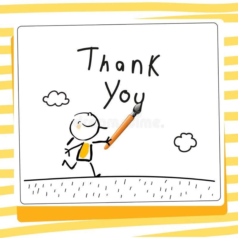 Το gratefulness παιδιών ευχαριστεί εσείς λαναρίζει διανυσματική απεικόνιση