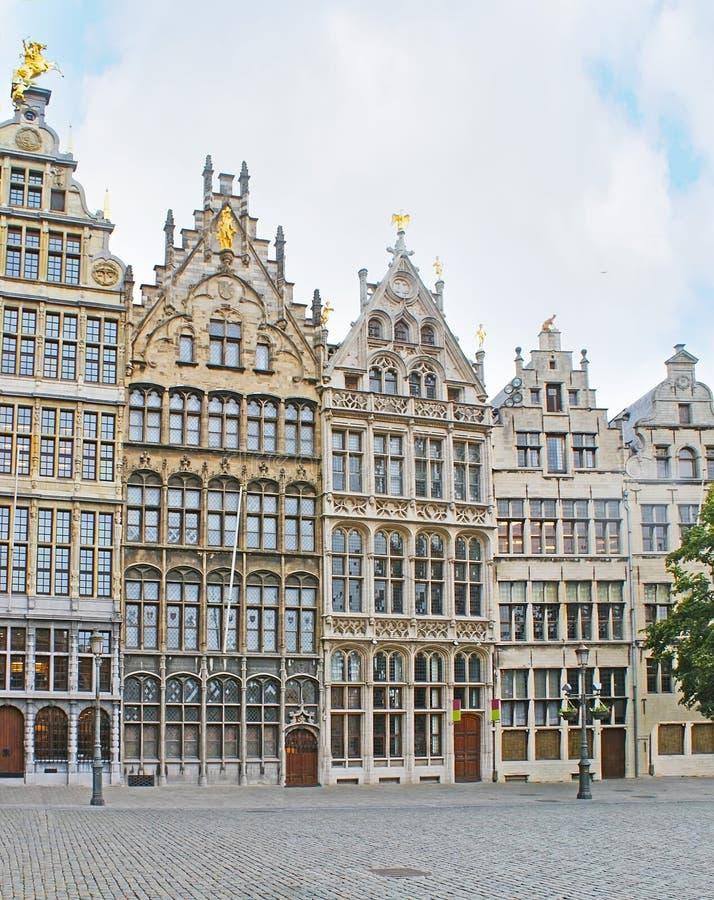 Το Guildhouses της Αμβέρσας στοκ εικόνα