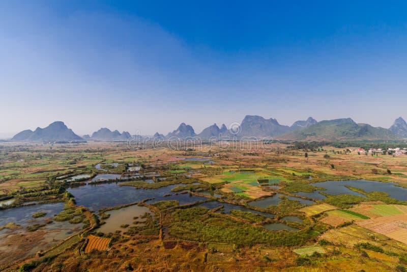 Το Guilin εθνικό πάρκο υγρότοπου Xiankasite στοκ εικόνα