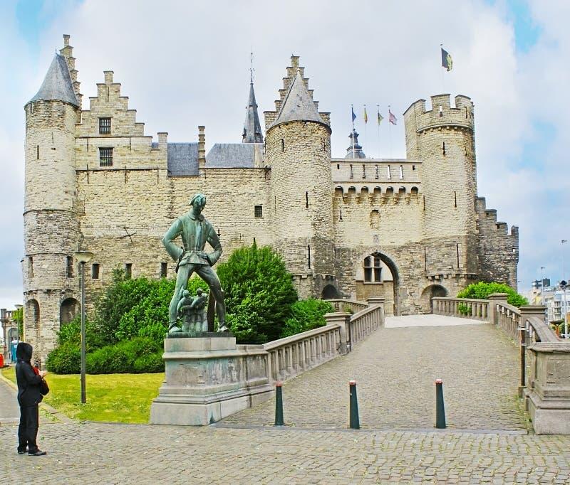 Το Het STEEN Castle στοκ φωτογραφία με δικαίωμα ελεύθερης χρήσης