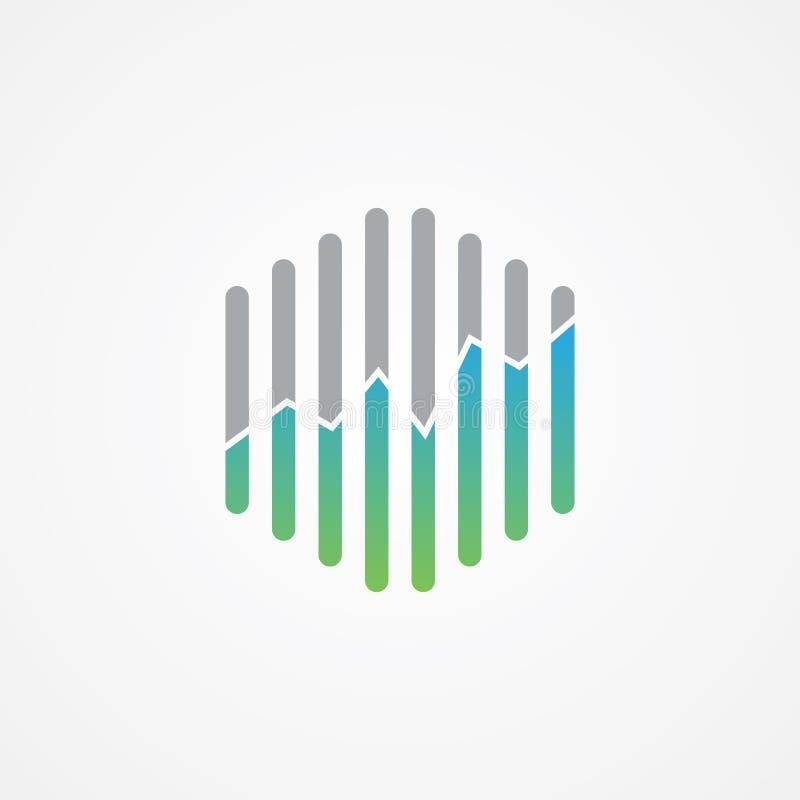 Το Hexagon διανυσματικό σχέδιο διαγραμμάτων τεχνολογίας γραφικό για το εικονίδιο Ιστού ή το smartphone app με τη διαβάθμιση χρωμα ελεύθερη απεικόνιση δικαιώματος