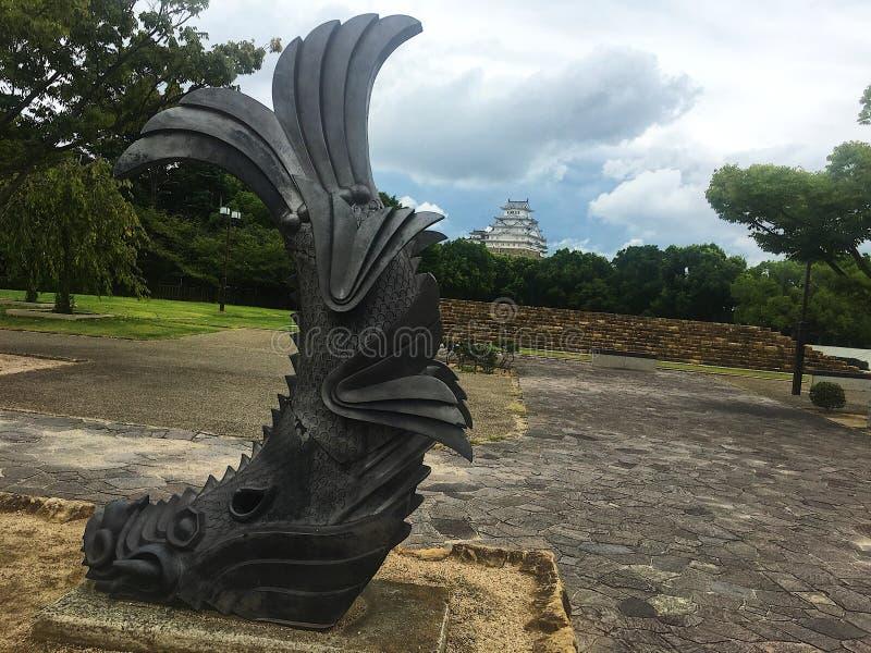 Το himeji-Himeji Castle και ο φύλακας στοκ εικόνα