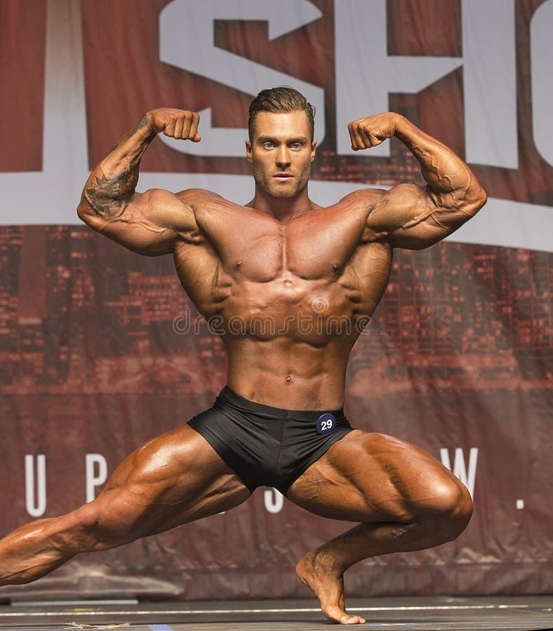 Το Hunky καναδικό Bodybuilder κερδίζει τον τίτλο του Τορόντου στοκ φωτογραφία με δικαίωμα ελεύθερης χρήσης
