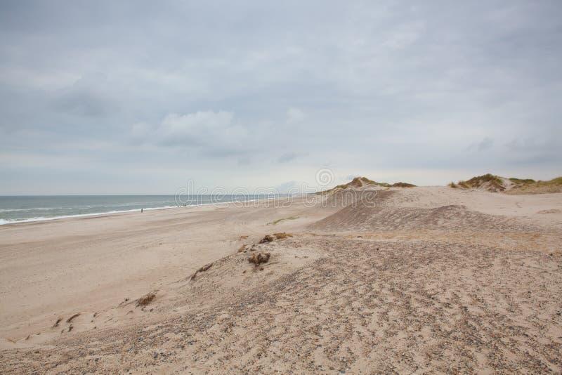 Το Hvide Sande είναι η επιτομή των παραλιών Δυτική Γιουτλάνδη, Δανία στοκ φωτογραφία