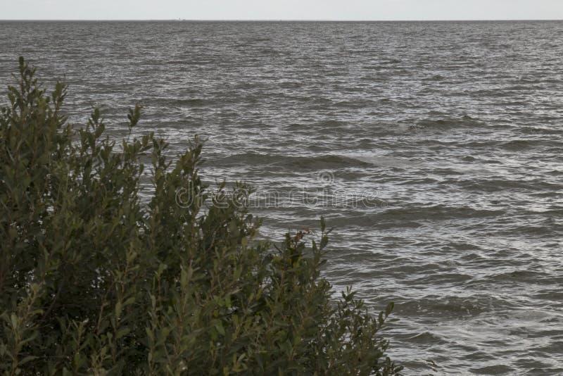 Το IJsselmeer σκοτεινό και θυελλώδες στοκ φωτογραφίες