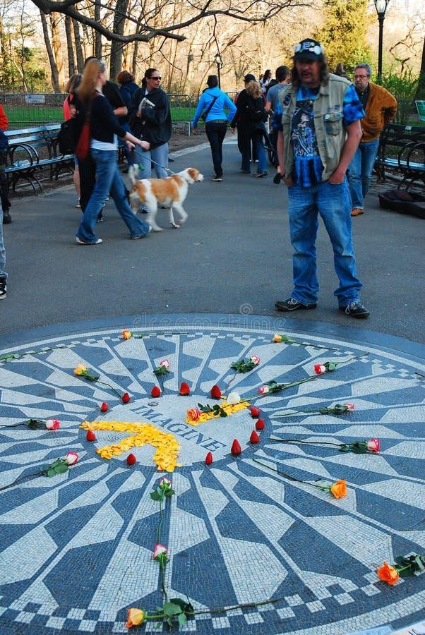 Το Imagine μωσαϊκό, Central Park στοκ φωτογραφίες