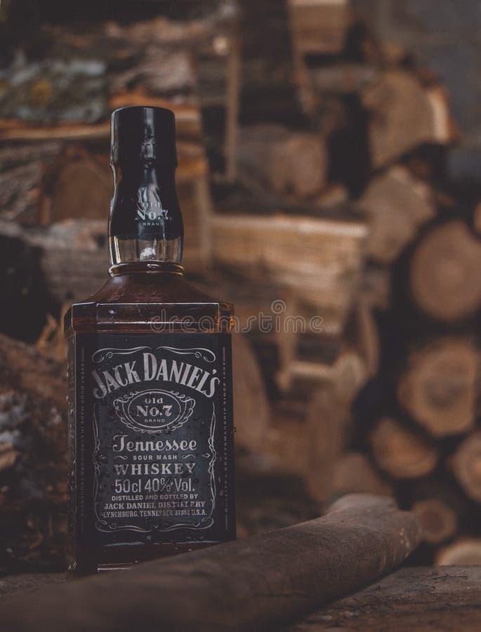 Το Jack Daniels είναι πραγματικό ουίσκυ, όχι μπέρμπον Θερμαίνοντας ποτό στοκ φωτογραφίες με δικαίωμα ελεύθερης χρήσης