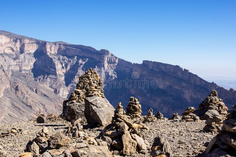 Το Jebel υποκρίνεται - σουλτανάτο του Ομάν στοκ εικόνες