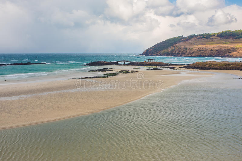 Το Jeju κάνει το νησί παραλιών, Νότια Κορέα στοκ εικόνα