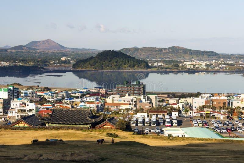 Το Jeju κάνει το νησί παραλιών, Νότια Κορέα στοκ φωτογραφία