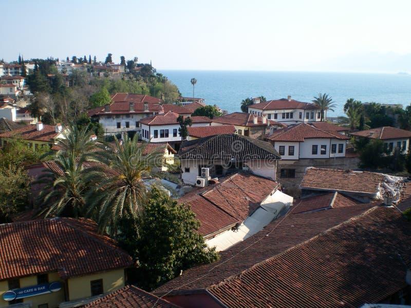 Το Kaleiçi είναι το ιστορικό κέντρο πόλεων Antalya, Τουρκία στοκ εικόνες