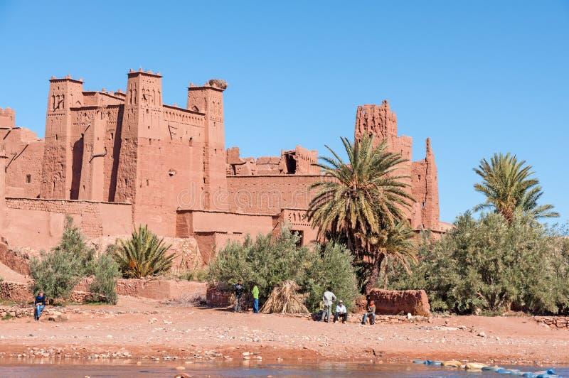 Το Kasbah Ait Benhaddou, Μαρόκο στοκ εικόνες