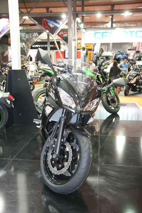Το Kawasaki στο αυτοκίνητο Βελιγραδι'ου παρουσιάζει στοκ εικόνα με δικαίωμα ελεύθερης χρήσης