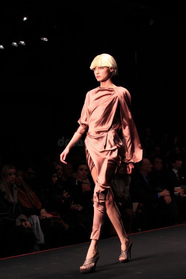 το krizia Μιλάνο μόδας εμφανίζε&i στοκ εικόνα με δικαίωμα ελεύθερης χρήσης