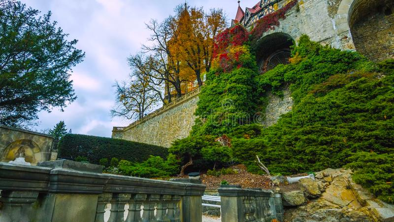 Το Ksiaz είναι ένα κάστρο στη Σιλεσία, Πολωνία κοντά στην πόλη Walbrzych στοκ φωτογραφία με δικαίωμα ελεύθερης χρήσης