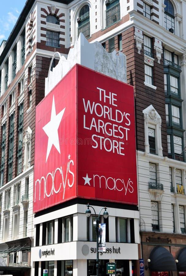 Το Macy ανακοινώνει το τετραγωνικό κατάστημα στοκ εικόνες