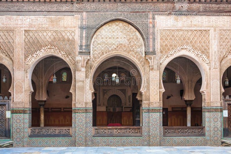 Το Medersa Bou Inania είναι ένα madrasa σε Fes, Μαρόκο στοκ φωτογραφία