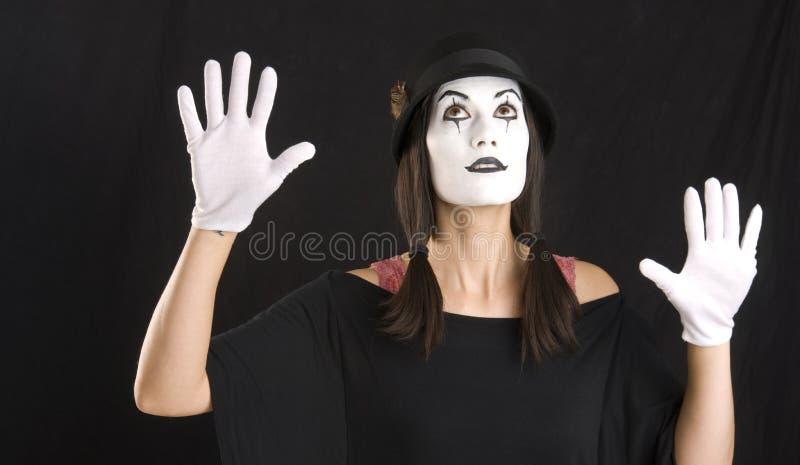 Το Mime ανατρέχει στοκ φωτογραφία με δικαίωμα ελεύθερης χρήσης