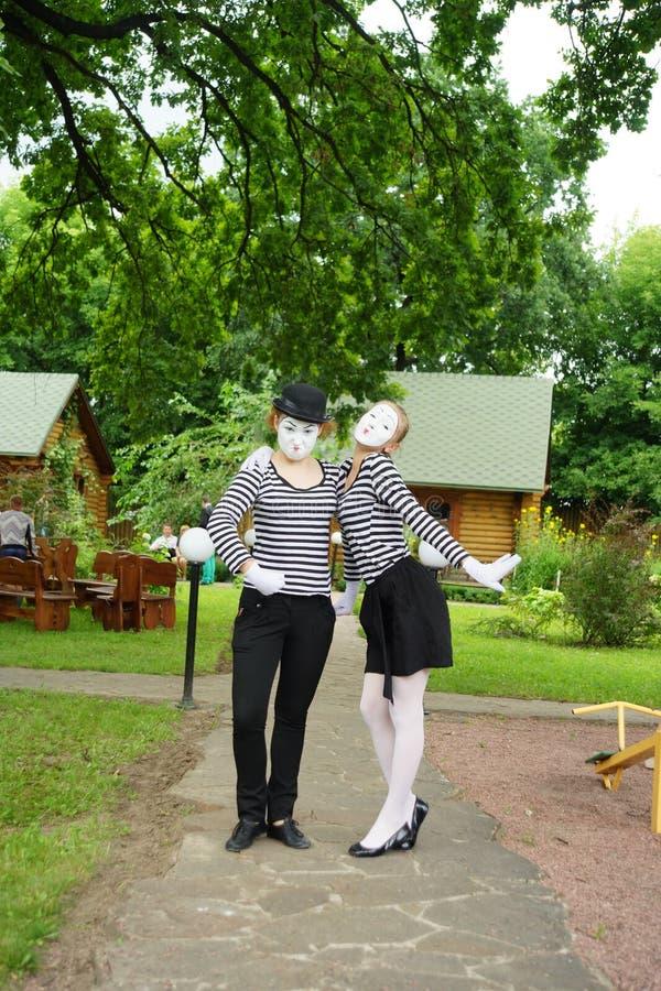 Το Mimes κάνει το καλύτερό τους στοκ φωτογραφία