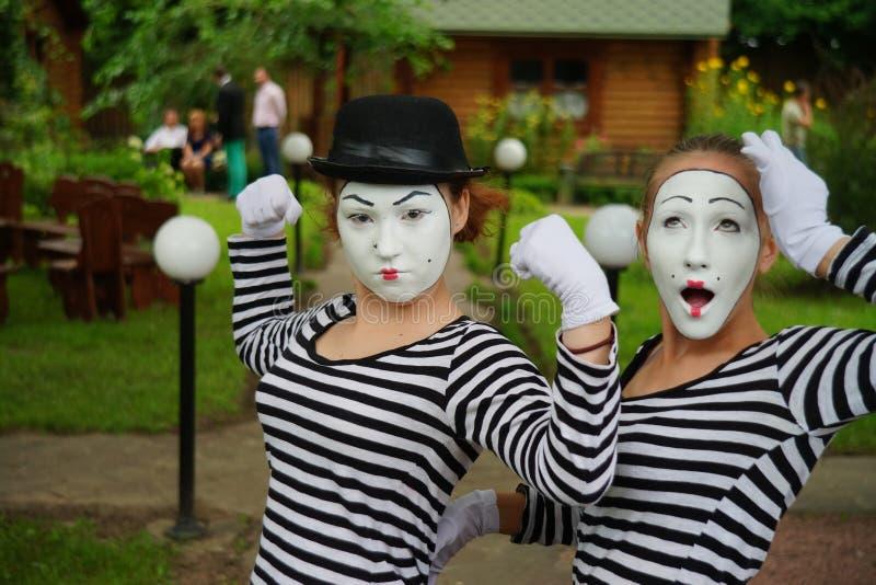 Το Mimes κάνει το καλύτερό τους στοκ φωτογραφίες με δικαίωμα ελεύθερης χρήσης