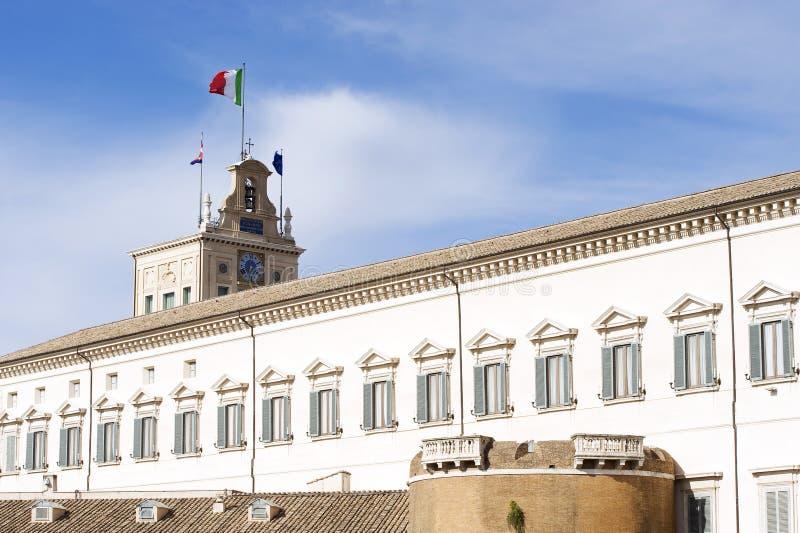 Το Montecitorio παλάτι, σπίτι στο Κοινοβούλιο στοκ εικόνα με δικαίωμα ελεύθερης χρήσης