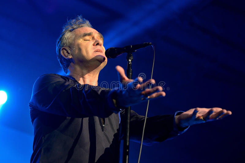 Το Morrissey (τραγουδιστής του Smiths) αποδίδει στη λέσχη Sant Jordi στοκ εικόνες με δικαίωμα ελεύθερης χρήσης