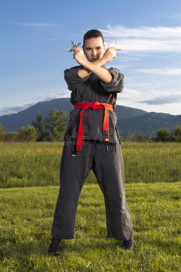 το ninja η γυναίκα στοκ εικόνες