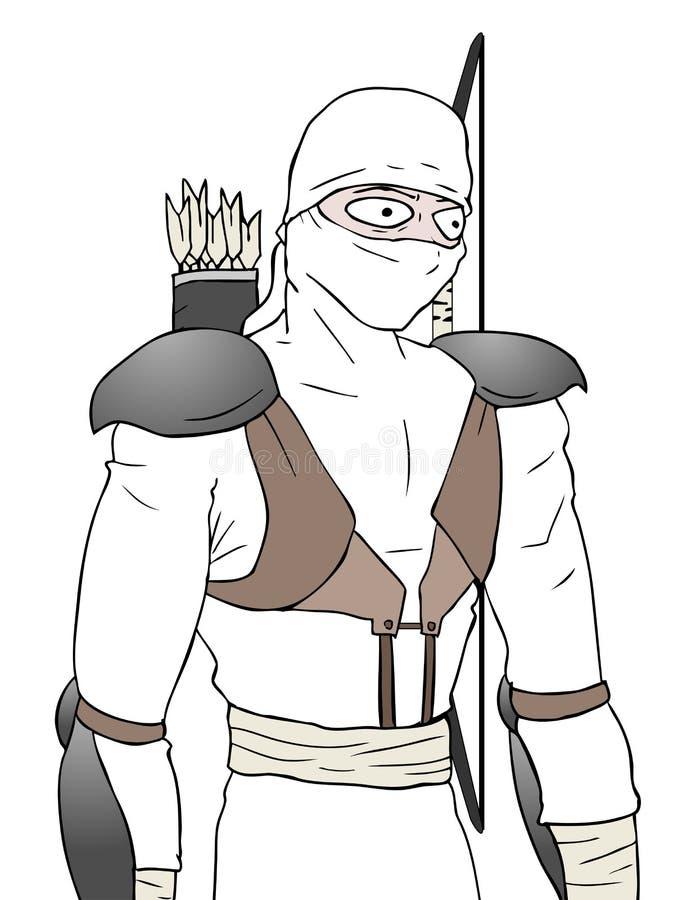 Το Ninja σύρει ελεύθερη απεικόνιση δικαιώματος